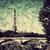 Eiffel · turné · folyó · fa · Párizs · Franciaország - stock fotó © photocreo