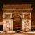 Триумфальная · арка · Париж · впечатляющий · Франция · путешествия · Blue · Sky - Сток-фото © photocreo