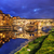 ponte vecchio bridge in florence italy arno river at night stock photo © photocreo