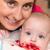 bebê · raiz · de · beterraba · boca · mães · brasão · família - foto stock © Photoline