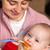 bebê · primeiro · tempo · alimentação · sozinho · adorável - foto stock © Photoline
