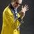 рокабилли · певицы · желтый · куртка · ретро-стиле - Сток-фото © Photoline