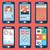 teléfonos · móviles · vector · icono · clip · art · colección - foto stock © photoroyalty
