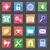 セット · アプリケーション · webアイコン · デザイン · 長い · 影 - ストックフォト © photoroyalty