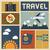 travel icons set retro vintage design vector stock photo © photoroyalty