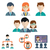 Human resources and management icons set stock photo © Photoroyalty