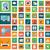set of modern flat electronic devices icons stock photo © photoroyalty