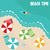 summer beach in flat design aerial view sea side and umbrellas vector illustration stock photo © photoroyalty