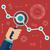 flat vector illustration of web analytics information and development website statistic stock photo © photoroyalty