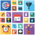 vector collection of colorful flat business and finance icons with long shadow design elements for stock photo © photoroyalty