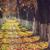 осень · утра · пейзаж · тротуаре · покрытый · высушите - Сток-фото © photosebia
