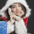jonge · christmas · vrouw · klok · geschenkdoos - stockfoto © photosebia