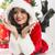 uśmiechnięty · młoda · kobieta · objętych · śniegu · kobieta · twarz - zdjęcia stock © photosebia