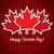 boldog · Kanada · nap · kártya · vektor · formátum - stock fotó © piccola