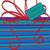 azul · arco · fita · papel · caixa - foto stock © piccola