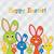 rejtőzködik · húsvéti · nyuszi · kártya · vektor · formátum · húsvét - stock fotó © piccola