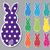 ベクトル · テクスチャ · ピンク · ウサギ · 白 · イースター - ストックフォト © piccola