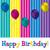 boldog · születésnapot · léggömb · kártya · vektor · formátum · textúra - stock fotó © piccola