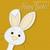 fényes · húsvéti · nyuszi · kártya · vektor · formátum · arc - stock fotó © piccola
