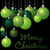 group of christmas baubles in vector format stock photo © piccola