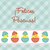 Spanish Baby Chicks Easter card in vector format. stock photo © piccola