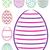 fényes · kézzel · rajzolt · húsvéti · tojások · vektor · formátum · húsvét - stock fotó © piccola