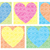 mosaic tile hearts in vector format stock photo © piccola