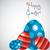 kellemes · húsvétot · tojás · kártya · vektor · formátum · tavasz - stock fotó © piccola