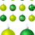 Lime and green Christmas baubles in vector format. stock photo © piccola