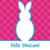 kellemes · húsvétot · fényes · nyuszi · kivágás · kártya · húsvéti · nyuszi - stock fotó © piccola