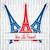 Eiffel-torony · matrica · Bastille · nap · kártya · vektor - stock fotó © piccola