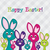 Hiding Easter Bunnies card in vector format. stock photo © piccola
