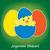 フランス語 · 赤ちゃん · ひよこ · 卵 · イースター · カード - ストックフォト © piccola