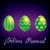 spanyol · kellemes · húsvétot · fényes · tojás · kártya · vektor - stock fotó © piccola