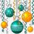 szalag · csecsebecse · karácsonyi · üdvözlet · vektor · formátum · fény - stock fotó © piccola