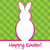 'Happy Easter' bright bunny cut out card in vector format. stock photo © piccola