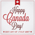 happy canada day retro card in vector format stock photo © piccola