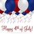 boldog · negyedike · léggömb · kártya · vektor · formátum - stock fotó © piccola