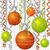 szalag · csecsebecse · karácsonyi · üdvözlet · vektor · formátum · narancs - stock fotó © piccola