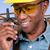 afrikai · építkezés · mérnök · töprengő · építész · néz - stock fotó © piedmontphoto