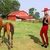caballo · nina · sombrero · de · vaquero · retrato · jóvenes · aire · libre - foto stock © piedmontphoto