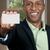 zwarte · man · visitekaartje · knap · afro-amerikaanse · man - stockfoto © piedmontphoto