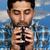 mosolyog · kisebbségi · arab · férfi · kávé · visel - stock fotó © piedmontphoto