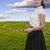 menina · comprometido · arte · ginástica · exercer - foto stock © piedmontphoto