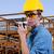 építész · munkavédelmi · sisak · adóvevő · ipar · épület · technológia - stock fotó © piedmontphoto