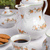 café · biscoitos · azul · copo · café · preto · pote - foto stock © pietus