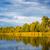 pastoral · manzara · göl · tepeler · ada - stok fotoğraf © pietus