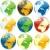 gekleurd · globes · vector · aarde · Blauw - stockfoto © PilgrimArtworks