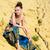 femme · tenues · de · plage · joli · brunette · blanche - photo stock © pilgrimego