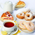 still life of setout table with baking pies donuts tee cup and stock photo © pilgrimego